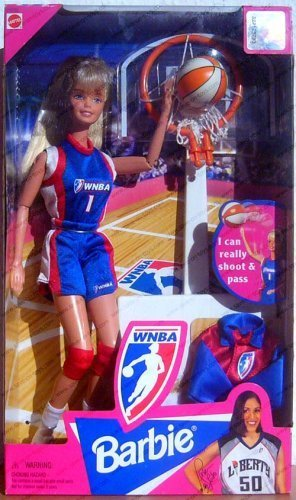 WNBA Basketball Blonde Barbie Doll by Mattel by Barbie
