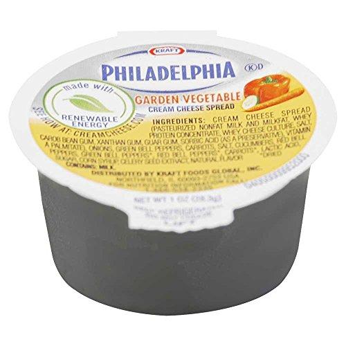 Kraft Philadelphia Garden Vegetable Cream Cheese Cup 1 Ounce 100 Per Case Food Beverages