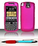 Accessory Factory(TM) Bundle (the item, 2in1 Stylus Point Pen) For Motorola ES400s (AT&T Sprint) Rubberized Case Cover Protector - Rose Pink