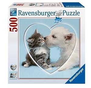 Ravensburger 15195 - Küsschen! Herz - 577 Teile Puzzle