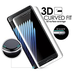 HTH Samsung Galaxy Note 7 Screen Protector [Full 3D Screen Coverage], hth [Anti-Bubble] [HD Clear] PET Film Screen Protector for Samsung Note 7