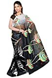 Rukmani Silk Mills Women's Georgette Printed Sari with Blouse Piece
