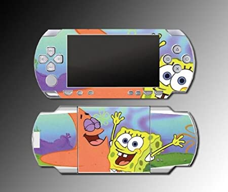 Spongebob Patrick Nick Kids game Decal Cover SKIN #3 for Sony PSP 1000 Playstation Portable