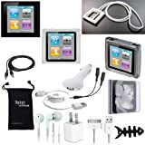 DigitalsOnDemand 14-Item Accessory Bundle for New Apple iPod Nano 6th Gen Generation 8GB 16GB