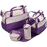 5 Piece Baby Changing Bag - Various Colours (Purple)