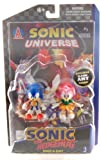 Sonic The Hedgehog Sonic and Amy Figure pack w/Comic Book