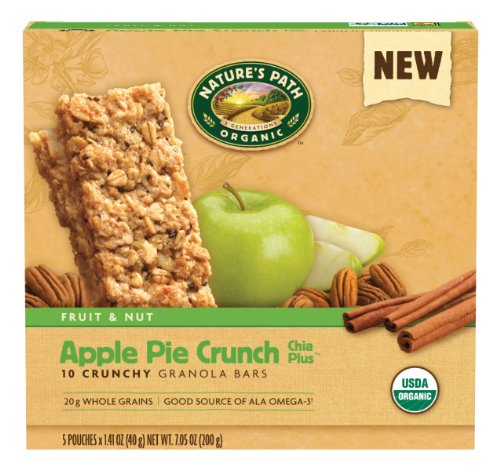NATURE'S PATH ORGANIC Crunchy Granola Bars, Apple Pie Crunch, 7.05-Ounce (Pack of 6)