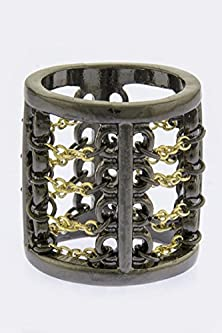 buy Baubles & Co Chain Link Design Ring (Hematite)