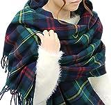 (ジーンズショップ マルカワ) Jeans shop MARUKAWA マフラー 大判 メンズ チェック ストール ユニセックス 男女兼用 冬 8color Free 柄G