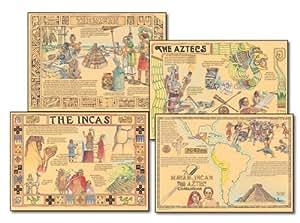 Carson Dellosa Mark Twain Mayan, Incan, and Aztec Civilizations Bulletin Board Set (1944)