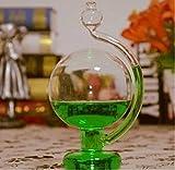 晴雨予報グラス インテリアとしても最適 気圧の変化を楽しめる おもしろグッズ ビーカー 理科 工作 実験 サイエンス 科学 (グリーン)T?G