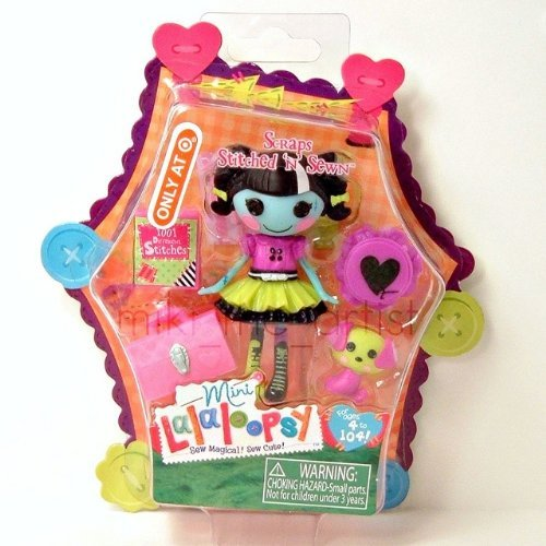 lalaloopsy scraps stitched n sewn mini 3 inch exclusive doll - 1