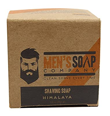 Shaving Soap Made with All Natural Ingredients Creates Rich Lather for a Smooth Shave. Includes Shea Butter and Coconut Oil to Protect & Moisturize the Skin. Large 3.8oz Refill Puck, Himalaya
