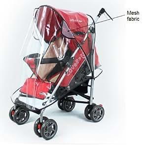Universal-Regenverdeck für Kinderwagen, für eine Vielzahl an Modellen geeignet