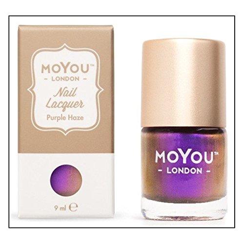 Moyou London-Smalto per Nail Art, Purple Haze