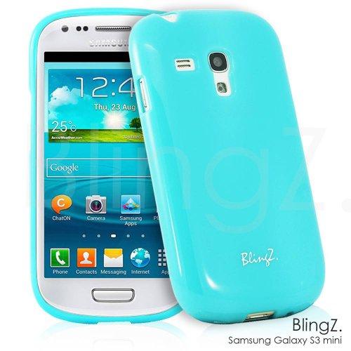 TheBlingZ.® Handy Tasche Silikon TPU Jelly Case Schutz Hülle Etui für Samsung Galaxy S3 Mini- Blau