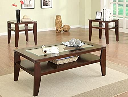 Brand New 3-pk Scott Coffee Table and End Tables Cocktail espresso finish