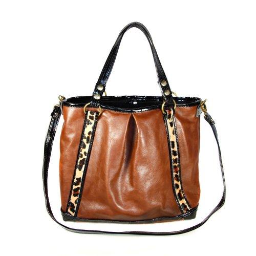 Mia Bossi Lyndsay Diaper Bag, Leopard