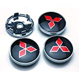 BENZEE 4pcs W312 60mm Car Emblem Wheel Hub Caps Centre Cover MITSUBISHI LANCER PAJERO OUTLANDER ASX Galant