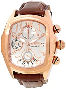 Invicta Lupah Chronograph Silver Dial Rose Gold-tone PVD Mens Watch 12619