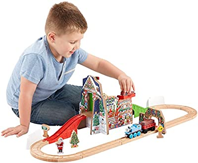 Fisher-Price Thomas the Train Wooden Railway Santa's Workshop Express from Fisher Price