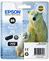 Epson T2611 Cartouche d'encre d'origine 200 pages 4,7 ml Noir Photo