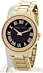 Anne Klein AK/1754BKGB Gold Tone Bracelet Black Dial Women's Wrist Watch