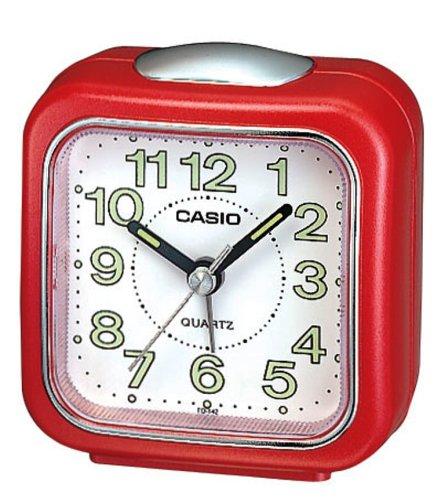 Casio - Tq-142-4Ef - Alarm Clock - Quartz - Analogue - Alarm - Brown Leather Strap front-587241