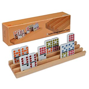 Wooden Domino Racks / Trays - Set of 4