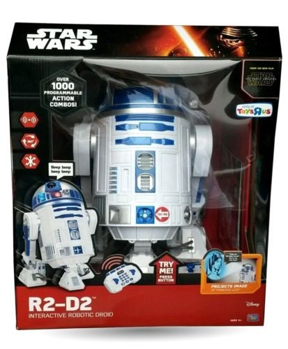 R2-D2 Interactive Robotic Droid Star Wars: The Force Awakens Thinkway RC Robot (R2d2 Robot Interactive compare prices)