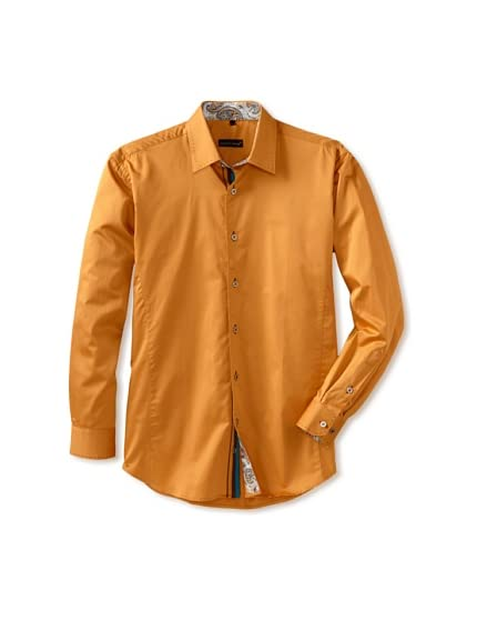 Jared Lang Men's Button-Front Shirt with Contrast Details