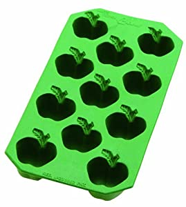 Lekue Classic Apple Ice Cube Tray, Green