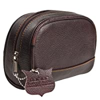 Deluxe Leather Small Toiletry Bag (Dopp Kit) from Parker Safety Razor from Parker Safety Razor