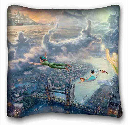 Custom Cotton & Polyester Soft ( Peter Pan wallpaper ) DIY Pillow Cover Size 26