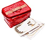 SPEAK Homes Attractive 6 Tray Jewelry Box/Case with Individual Zipper