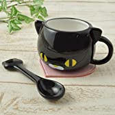 マグカップ&スプーンセット (黒猫) PEACH SALON