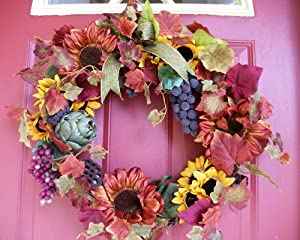 "Tuscan Autumn Wreath - 20"""