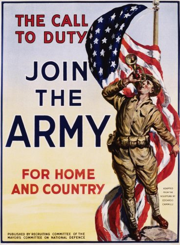 The Call To Duty For Home And Country Poster Wall Mural - 42 Inches H X 31 Inches W - Peel And Stick Removable Graphic front-774156