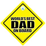 World's Best Dad Car Sign, Worlds Best Dad Sign, World's Best Dad On Board, Decal, Bumper Sticker, Baby on Board Sign, Baby On Board, Fathers Day, Dad Sign, Dad Car Sign, Daddy Car Signby iwantthatsign.com