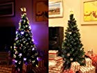 6.5 FT PRE-LIT MULTI COLOR LED FIBER OPTIC WITH ANGEL TOPPER ARTIFICIAL GREEN CHRISTMAS TREE