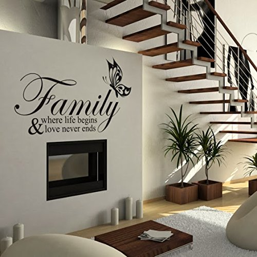 DeStudio Family Where Home Art Decor Removable Vinyl Room Wall Sticker, Size : TINY, Color : KELLY GREEN