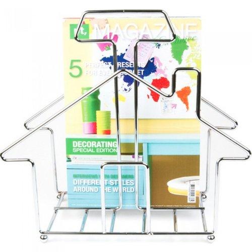PT Home Sweet Home Steel Magazine Rack, Chrome