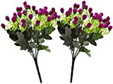 Fourwalls Artificial Rose Bunch (27 cm, Light Purple, Set of 2)