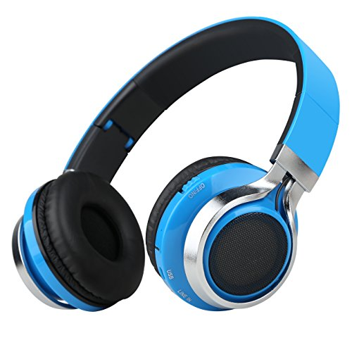 85d3c0758db Sound Intone K8 Folding Wireless Bluetooth Stereo Headphones Adjustable  Headsets (Blue)