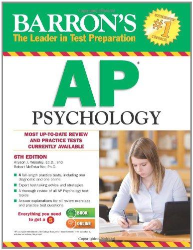 Barron'S Ap Psychology, 6Th Edition