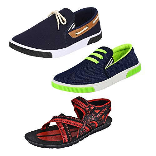 Earton-Men-COMBO-Pack-of-3-Loafers-Moccasins-With-Sandal
