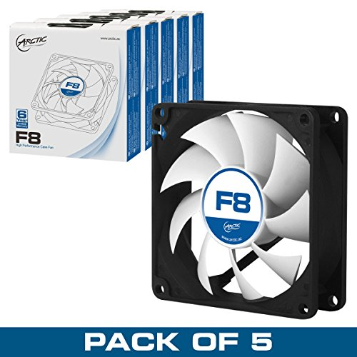 Arctic F8 - Value pack 80mm Standard Low Noise Case Fan Cooling, 5 Pack (80 Mm Cooling Fans compare prices)