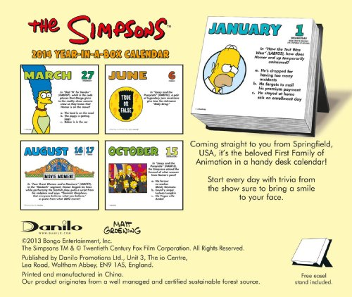 Official The Simpsons Desk Block 2014 Calendar