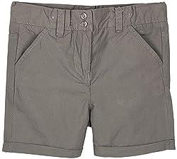 Oye Poplin Girls Hot Shorts - Grey (3-4 Y)