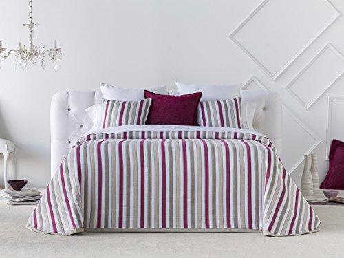 Textilhome Colcha Bouti HYDRA, Tamaño 105cm - Color FUCSIA